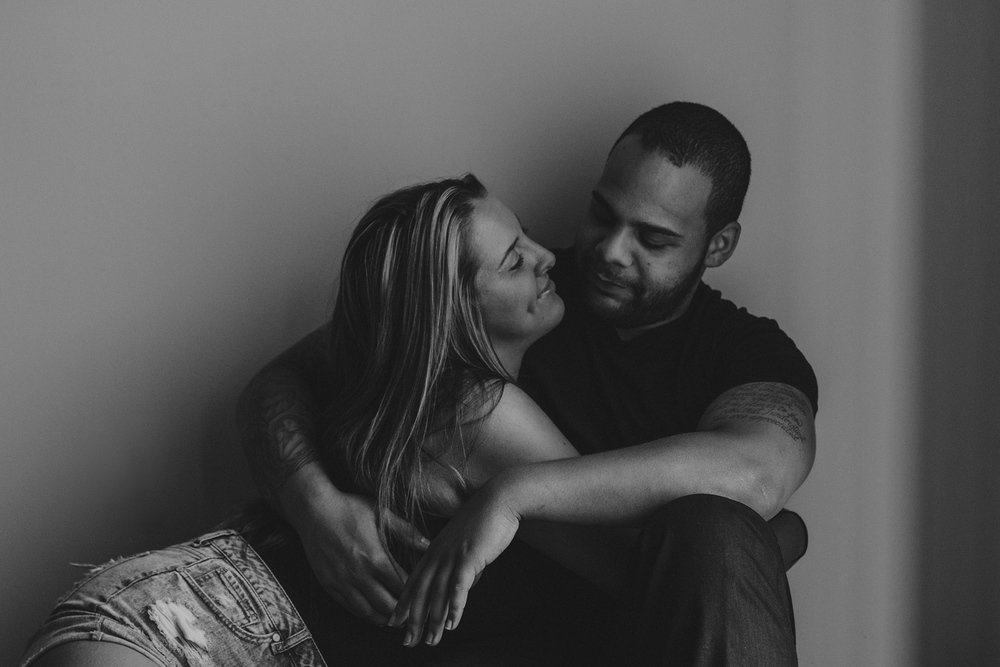 Engagement-style couples photography at their home in Rochester, NY.