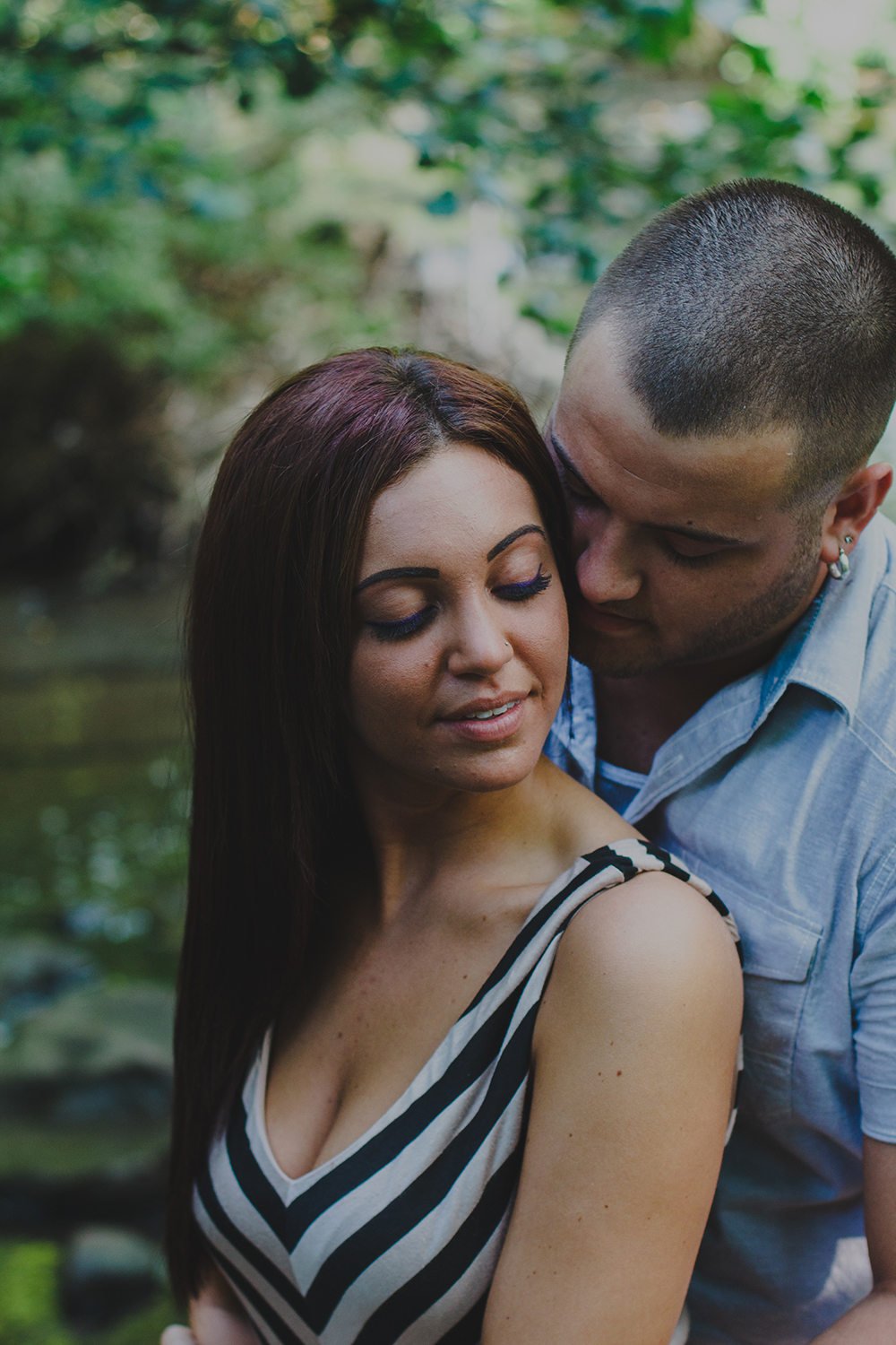 Outdoor engagement photography at Corbett's Glen Nature Park in Rochester, NY.