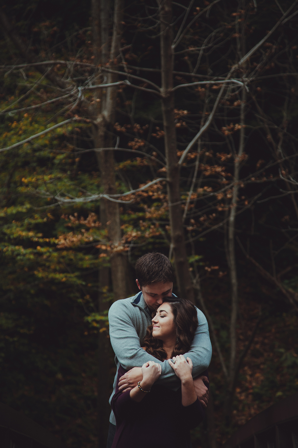 Engagement photo session at Chittenango Falls State Park.