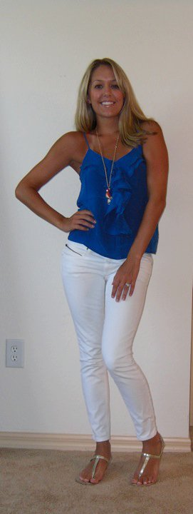 Casual: Blue + White