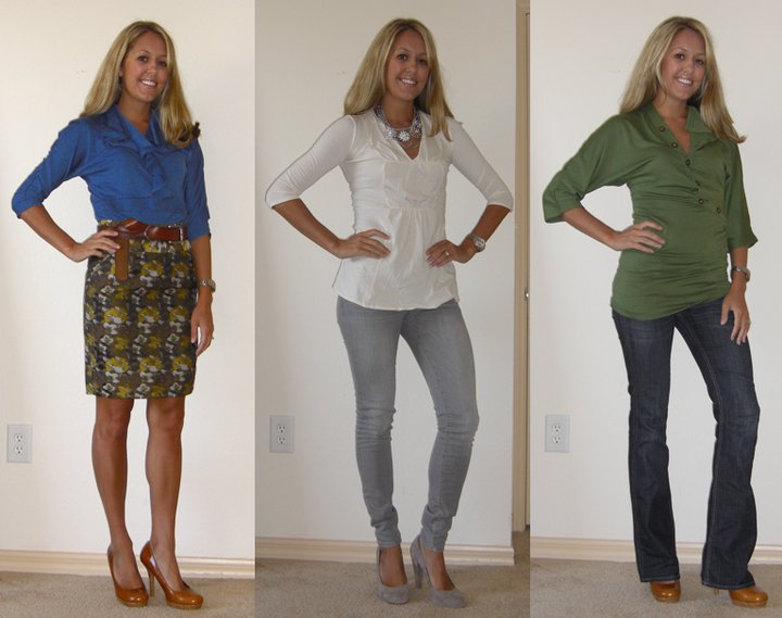 Today, I'm wearing:   Left: Rachele in Cobalt Blue, $18.90   http://elegantees.com/rachele-cobaltblue.html   Middle: Jolanta in Ivory, $14.90   http://elegantees.com/jolanta-ivory.html   Right: Laura in Forest Green, $19.90   http://elegantees.com/laura-black.html