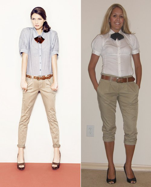 "Photo left: My inspiration from   Forever21.com.   I have another outfit to wear the bow tie with, this is just my ""practice"" outfit!"