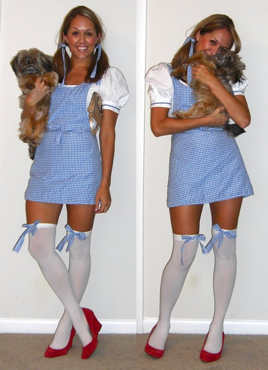Halloween   Dorothy costume:   BuyCostumes.com  , few years ago   Shoes: c/o Express, $30 (with coupon -  http://tinyurl.com/3jgcszv  )   Dog: Bella = my love