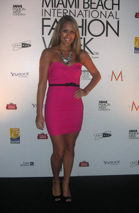 Occasion: Miami Fashion Week   Dress: c/o Varga, $44 (  http://www.vargastore.com/store/dresses/where-s-the-party-dress-pink-1697.html  )   Shoes: Steve Madden/Ross, $20   Belt: Express Necklace: JcPenney, $20