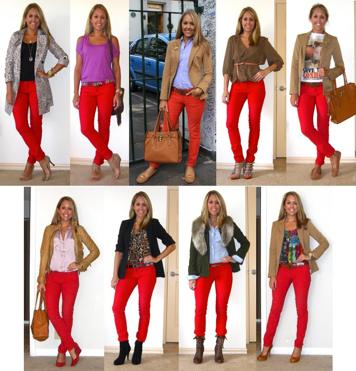 Today I'm sharing 9 ways I wore red pants. Admittedly one of the hottest items this fall, if you don't already own red pants, I recommend scooping up a pair soon.