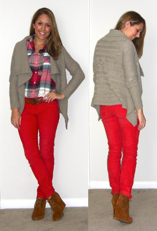 Sweater: Gap, old   Shirt: American Eagle, $24 (recent)   Pants: Gap, $20   Belt: H&M, $20   Boots: Steve Madden Tanngoo from Endless, $47 -  http://bit.ly/uxpQPV   Necklace: Stella & Dot