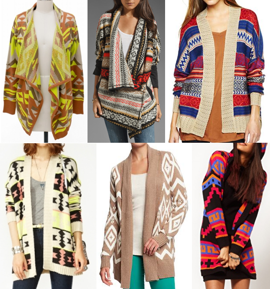 Today's Everyday Fashion: The Aztec Cardi — J's Everyday Fashion