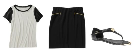 Top  /  Skirt  /  Sandals