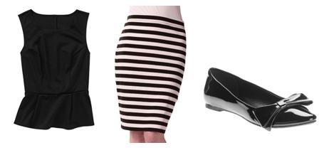 Top  /  Skirt  /  Flats
