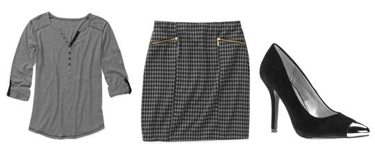 Top  /  Skirt  /  Heels