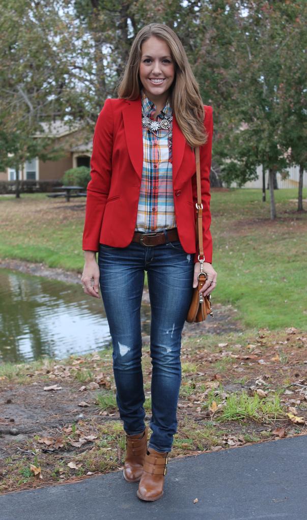 todays everyday fashion the red blazer � js everyday