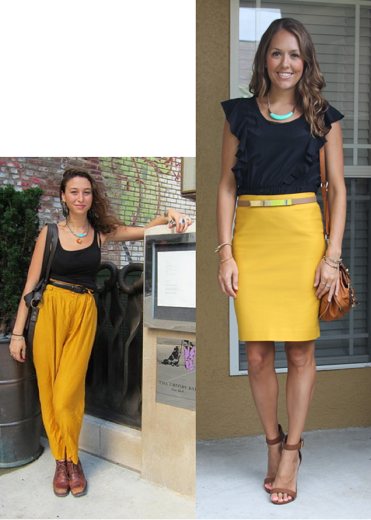 impressive yellow pencil skirt outfit 8