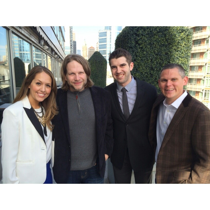 With fellow panelists Chris Brogan and Blake Lawrence, and Izea founder Ted Murphy. Via Instagram.