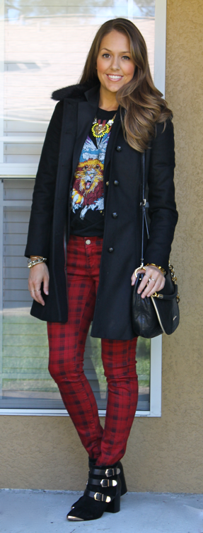 plaid jeans outfit
