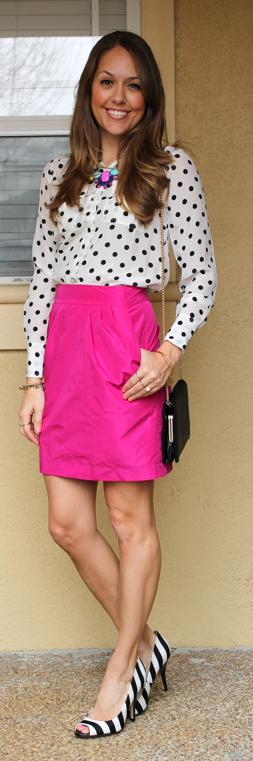pink skirt polka dots