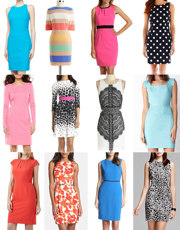 Sheath dresses on a budget