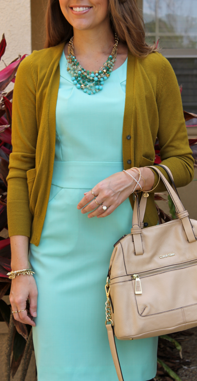 mint and pea green outfit