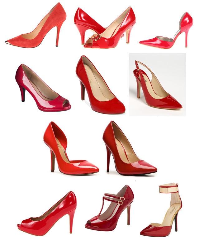Red pumps under $100