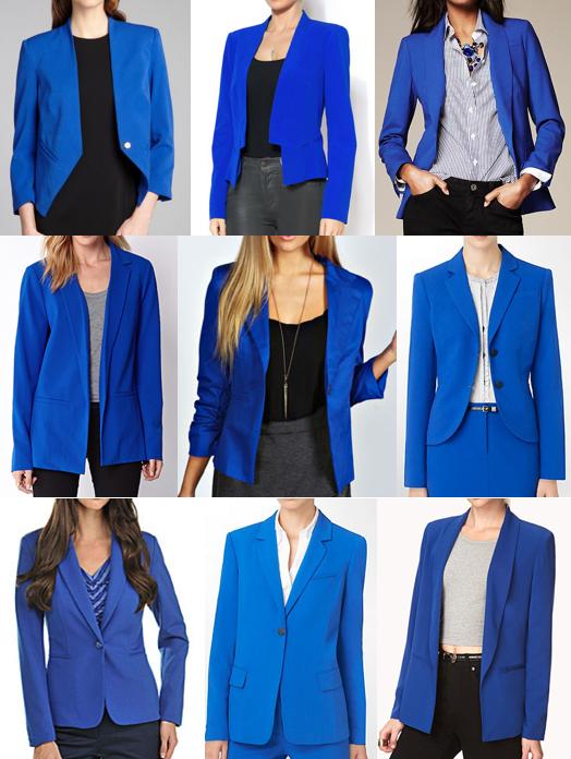 Cobalt blazers