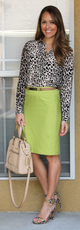 Citrus and leopard outfit