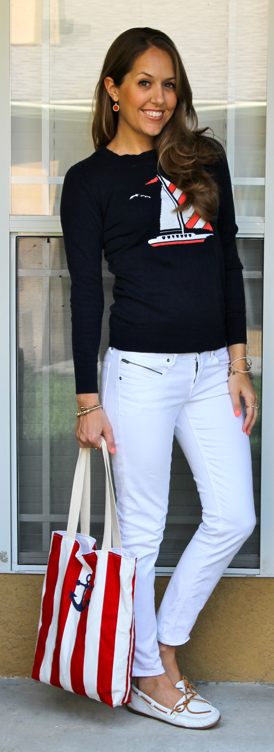 Sailboat sweater outfit