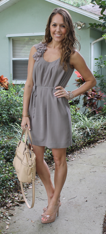 Chiffon dress and bow pumps