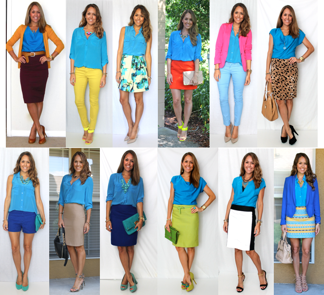 12 ways to wear an electric blue top