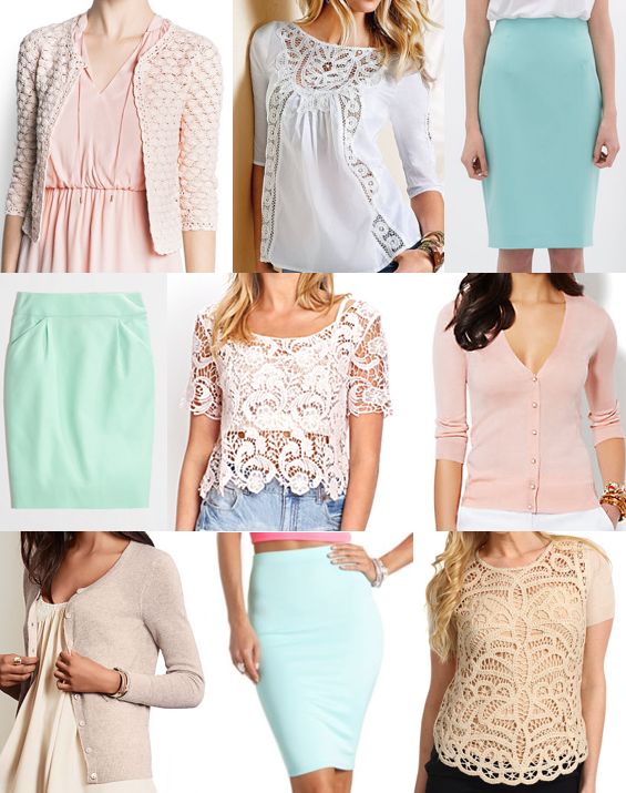 Lace and pastel outfit ideas
