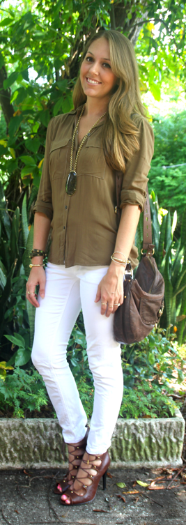 Olive tones outfit