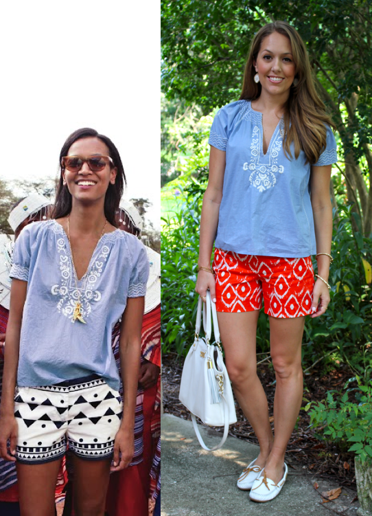 J.Crew tribal shorts outfit