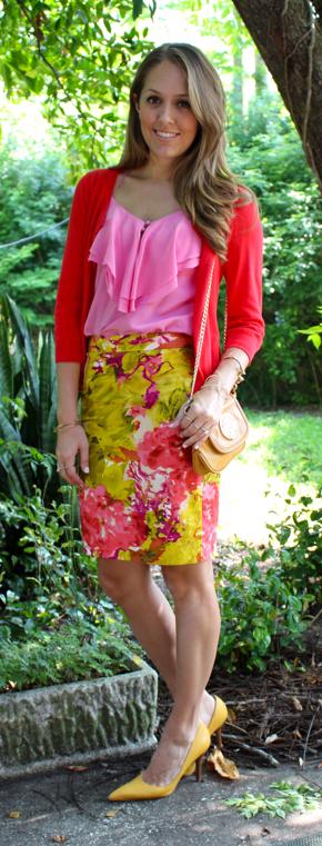 j.Crew floral skirt