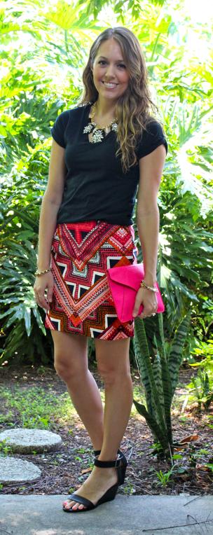 Target Merona aztec skirt
