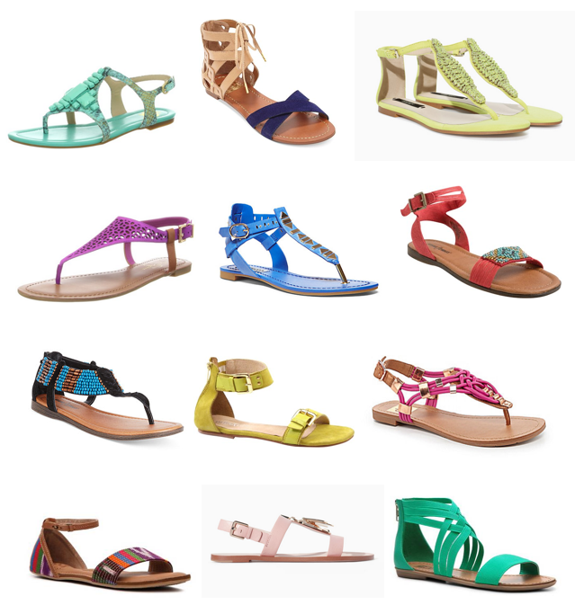 Colorful sandals under $100