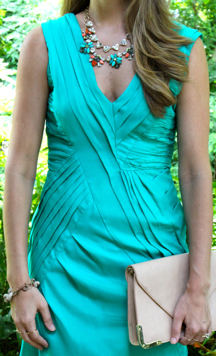 Turquoise dress with Stella & Dot Elodie and Somervell