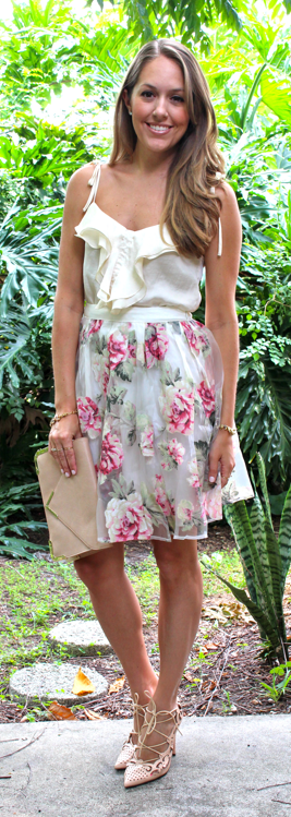 J's Everyday Fashion rose skirt