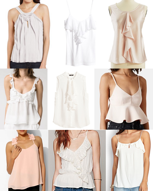 Ruffle tops under $100
