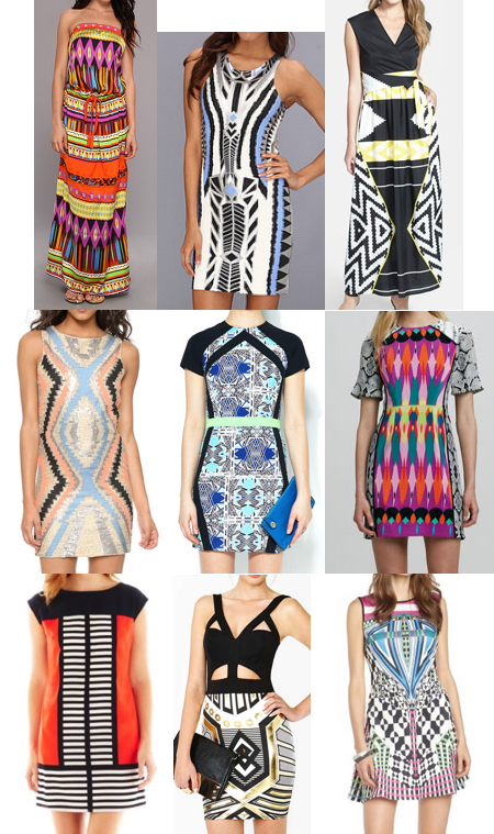 Geometric dresses on a budget