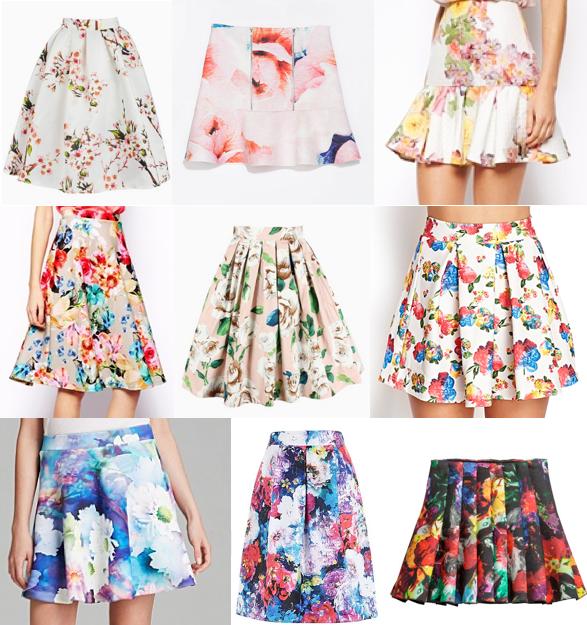 Floral skirts under $100