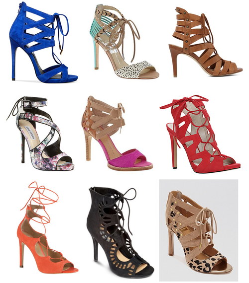 Lace-up heels on a budget