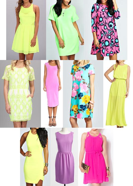 Neon dresses under $100