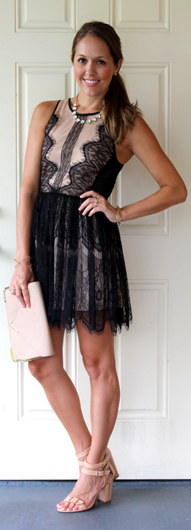 F21 scalloped lace dress