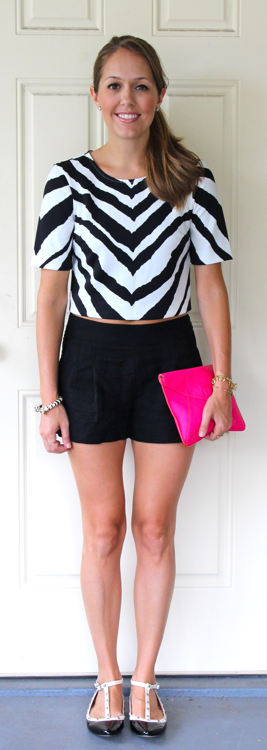 Zebra Express crop top