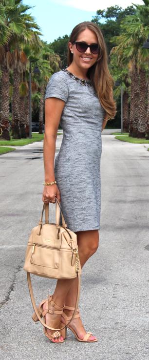 Jeweled neckline Ann Taylor dress