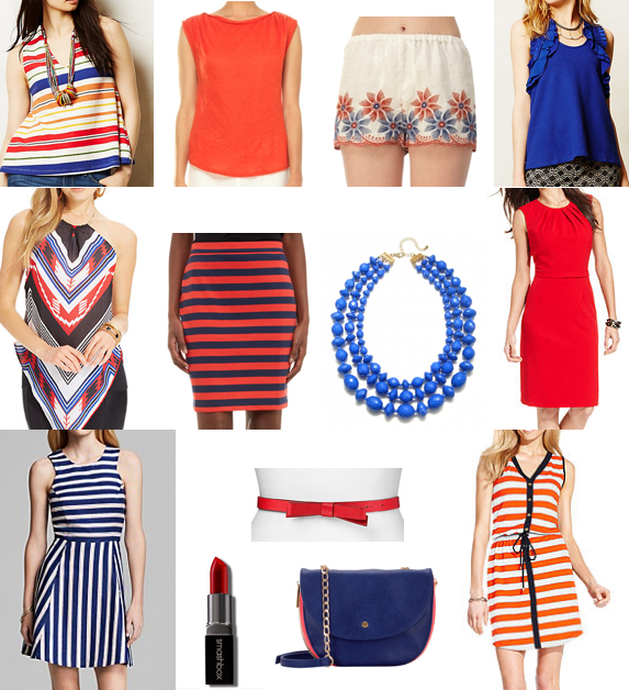 Red, white and blue sales