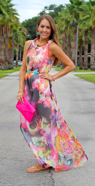 Charmant Ever Pretty Floral Maxi Dress