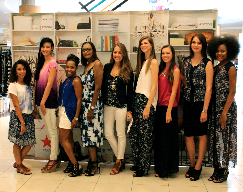 With the models at Macy's Vince Camuto event