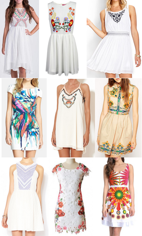 Embroidered dresses under $100