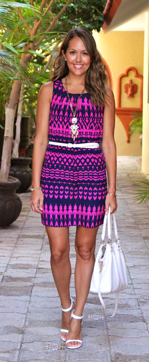 Navy and purple tribal dress