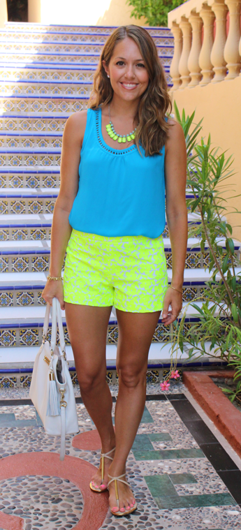 Neon shorts from J.Crew Factory
