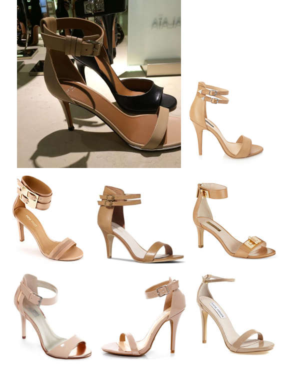 Look for less: ankle strap heels